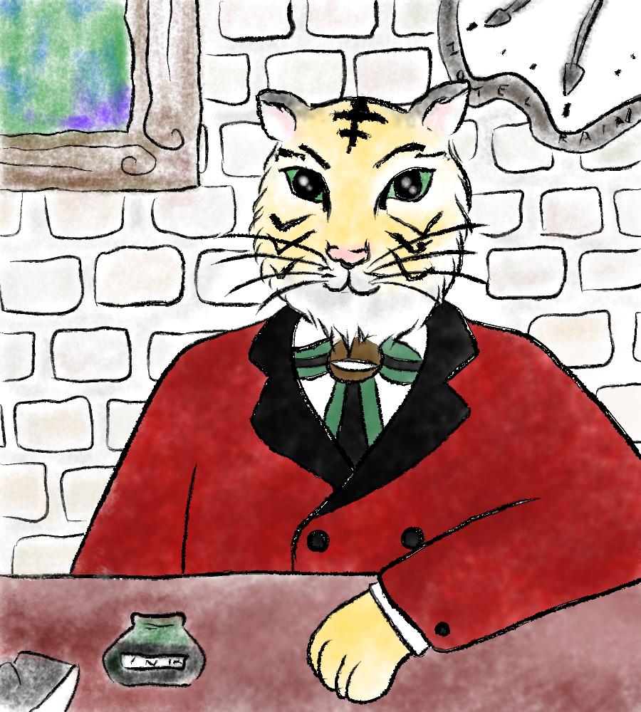 ホテル暴風雨新年臨時総支配人 illustration by Ukyo SAITO ©斎藤雨梟