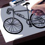 魔の絵本(2)エドワード・ゴーリー著「優雅に叱責する自転車」
