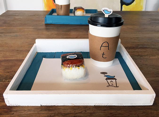 コーヒー&スパムむすび