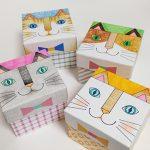 千秋まみこさんワークショップ「ぬり絵で作る 猫BOX」