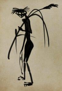 芥川龍之介 河童の図 模写