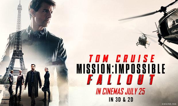 「ミッション:インポッシブル/フォールアウト」監督:クリストファー・マッカリー  出演:トム・クルーズ ヘンリー・カビル ビング・レイムス他