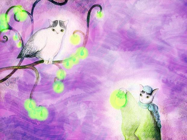 イラストレーター斎藤雨梟 猫と謎の鳥