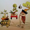 盆栽フクロウ、盆栽カメの秘密に迫る