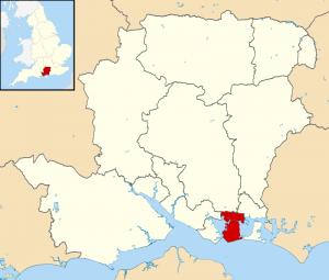 英国ポーツマス地図